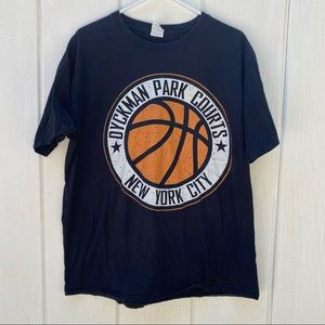 Dyckman Parks Court Basketball NYC black tee